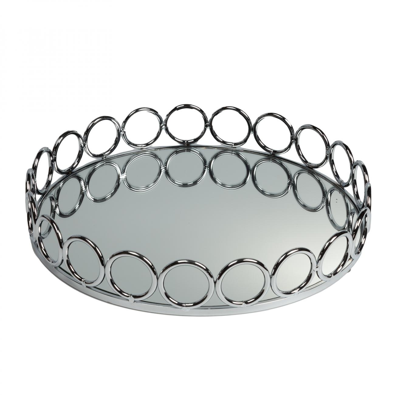 Купить Зеркальный поднос Debra Круглый в интернет магазине дизайнерской мебели и аксессуаров для дома и дачи
