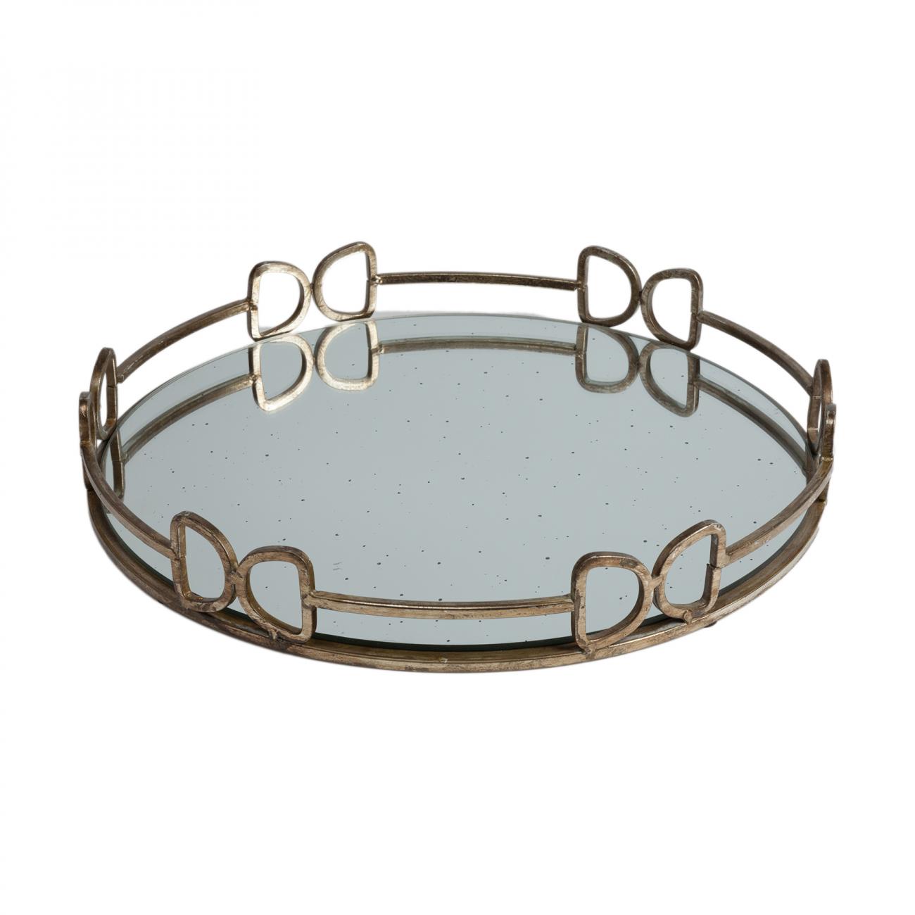 Купить Зеркальный поднос Brenna Круглый в интернет магазине дизайнерской мебели и аксессуаров для дома и дачи