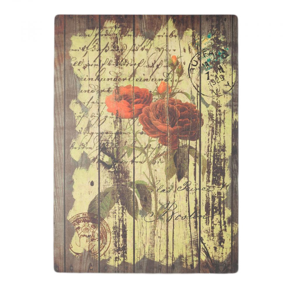 Декоративная панель Flores BordoДекор стен<br>Декоративный постер: настенный деревянный <br>(ель), цветная печать<br><br>Цвет: Разноцветный<br>Материал: Дерево<br>Вес кг: 1,8<br>Длина см: 50<br>Ширина см: 3<br>Высота см: 70
