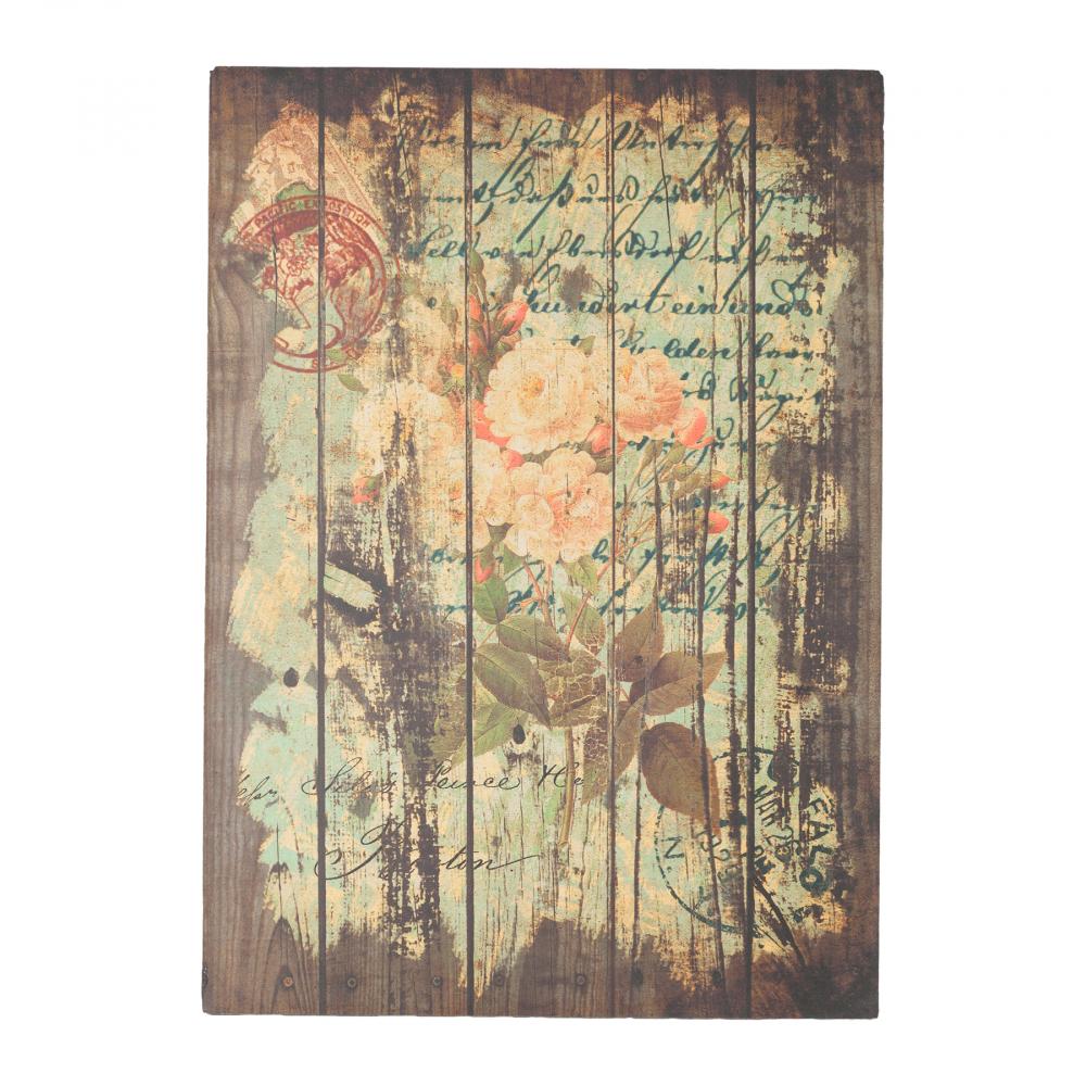 Декоративная панель Flores RoseДекор стен<br>Декоративный постер: настенный деревянный <br>(ель), цветная печать<br><br>Цвет: Разноцветный<br>Материал: Дерево<br>Вес кг: 1,8<br>Длина см: 50<br>Ширина см: 3<br>Высота см: 70
