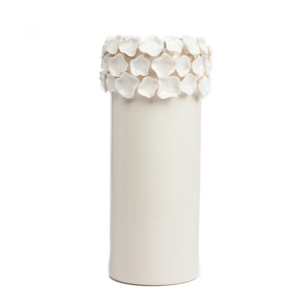 Декоративная ваза Loren БольшаяВазы<br><br><br>Цвет: Белый<br>Материал: Керамика<br>Вес кг: 2,9<br>Длина см: 20<br>Ширина см: 20<br>Высота см: 40