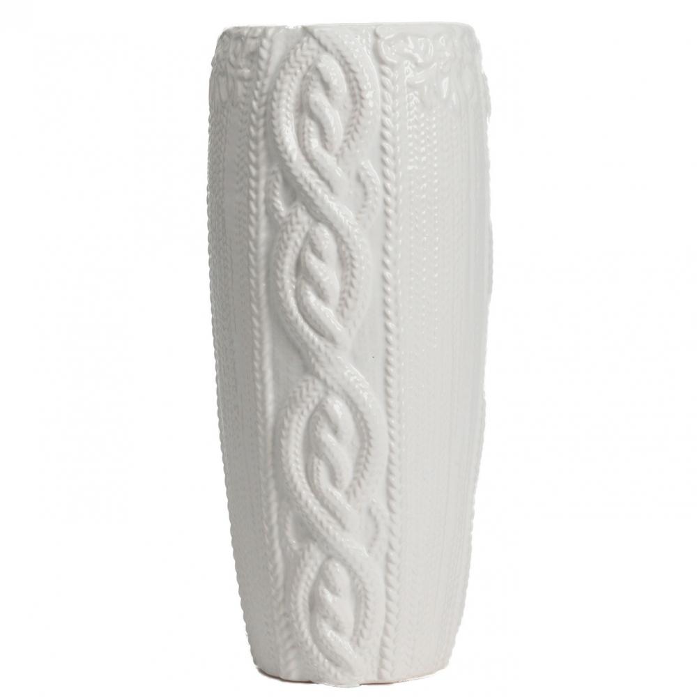 Декоративная ваза Lindley БелаяВазы<br><br><br>Цвет: Белый<br>Материал: Керамика<br>Вес кг: 1,3<br>Длина см: 11,5<br>Ширина см: 11,5<br>Высота см: 29