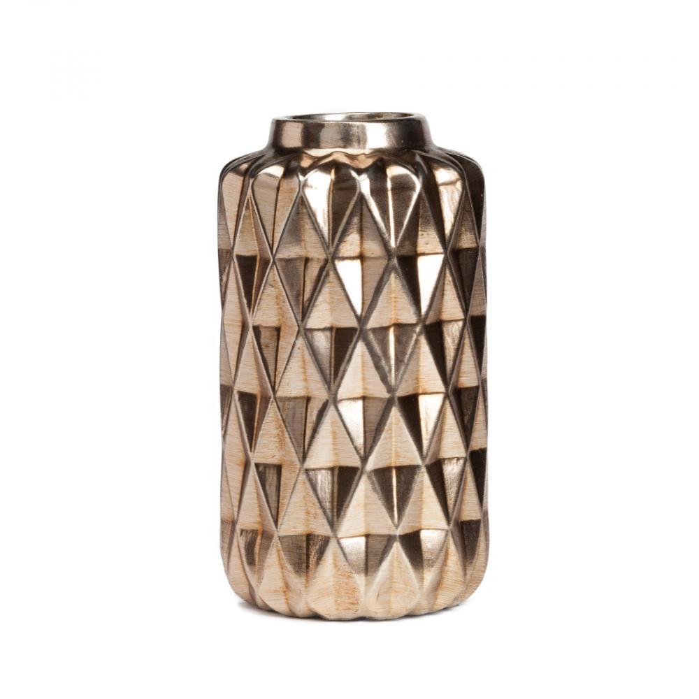 Декоративная ваза JaipurВазы<br><br><br>Цвет: Золото<br>Материал: Керамика<br>Вес кг: 1,1<br>Длина см: 12,5<br>Ширина см: 12,5<br>Высота см: 23