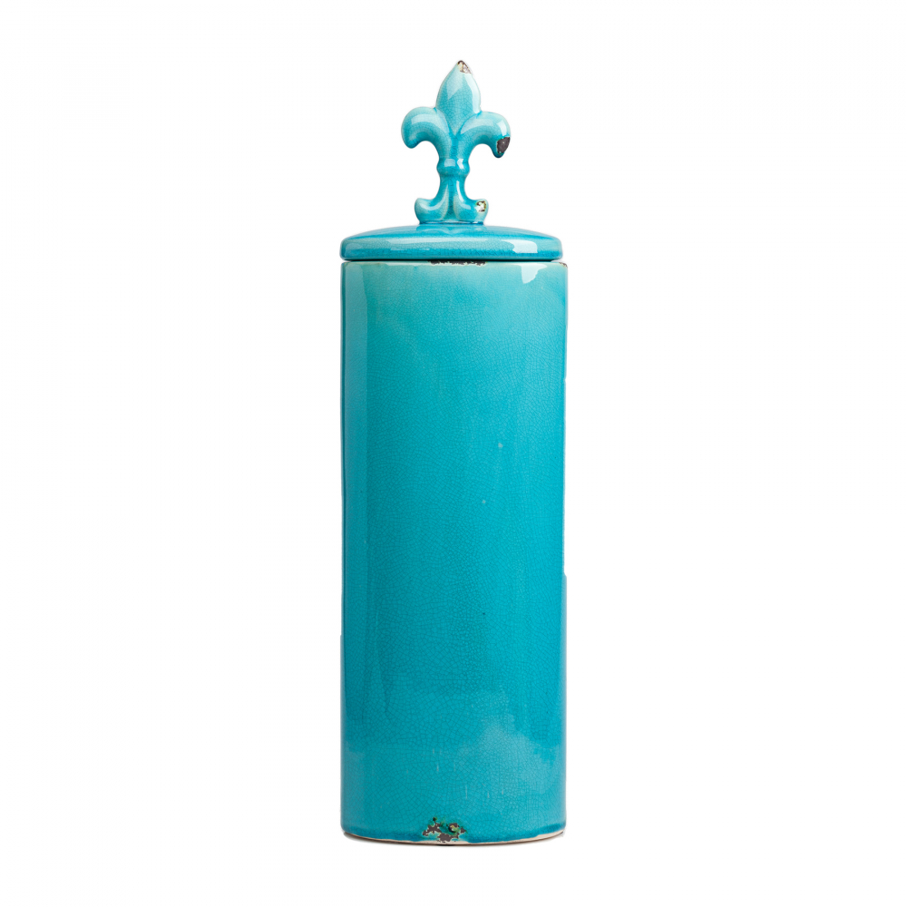 Декоративная ваза с крышкой Cannister для хранения Кухонные принадлежности<br><br><br>Цвет: Бирюзовый<br>Материал: Керамика<br>Вес кг: 3<br>Длина см: 16,5<br>Ширина см: 11,5<br>Высота см: 58,5