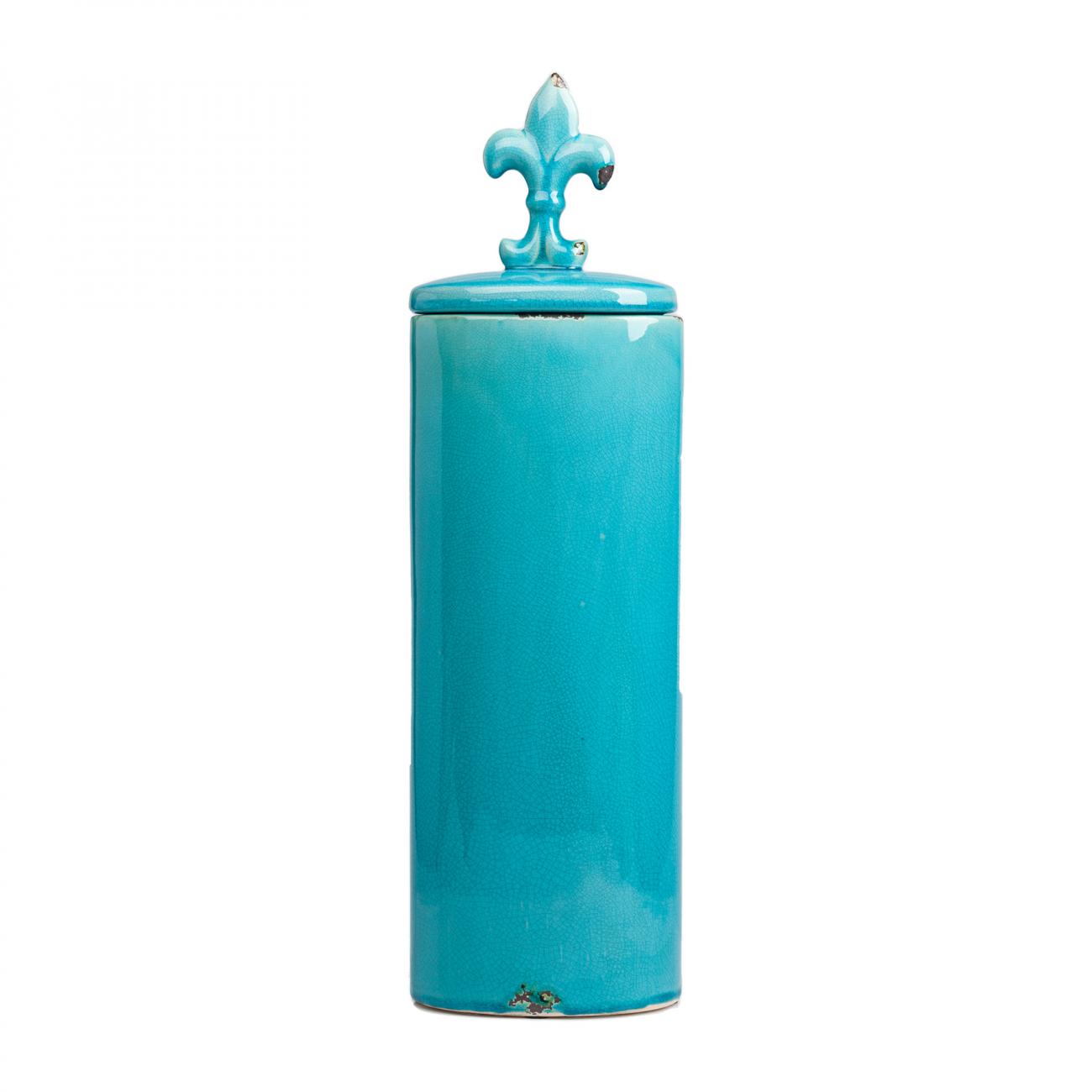 Купить Декоративная ваза с крышкой Cannister для хранения продуктов Голубая в интернет магазине дизайнерской мебели и аксессуаров для дома и дачи