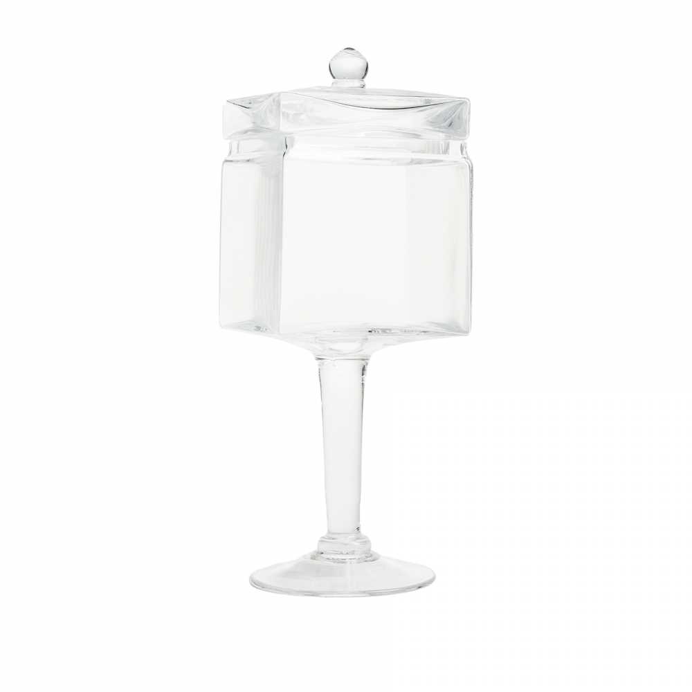 Декоративная ваза для сладостей Esbelto БольшаяКухонные принадлежности<br><br><br>Цвет: Прозрачный<br>Материал: Стекло<br>Вес кг: 1,8<br>Длина см: 12<br>Ширина см: 12<br>Высота см: 35