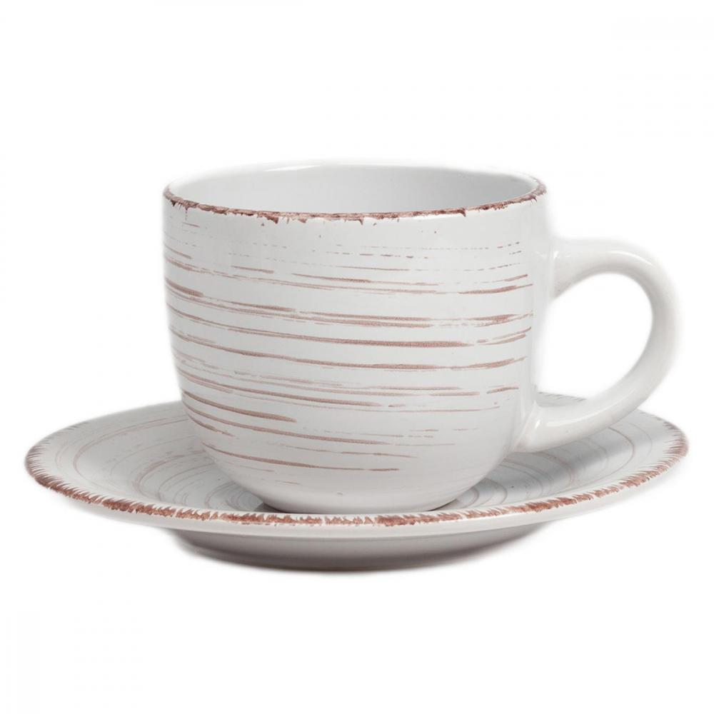 Чайная пара La Cebra КремоваяЧайные пары<br><br><br>Цвет: Бежевый<br>Материал: Керамика<br>Вес кг: 0,45<br>Длина см: 11,5<br>Ширина см: 8,5<br>Высота см: 7
