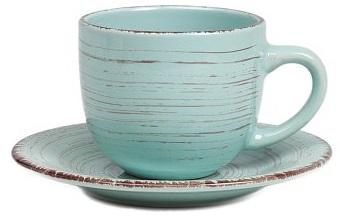 Чайная пара La Cebra ГолубаяЧайные пары<br><br><br>Цвет: Бирюзовый<br>Материал: Керамика<br>Вес кг: 0,45<br>Длина см: 11,5<br>Ширина см: 8,5<br>Высота см: 7