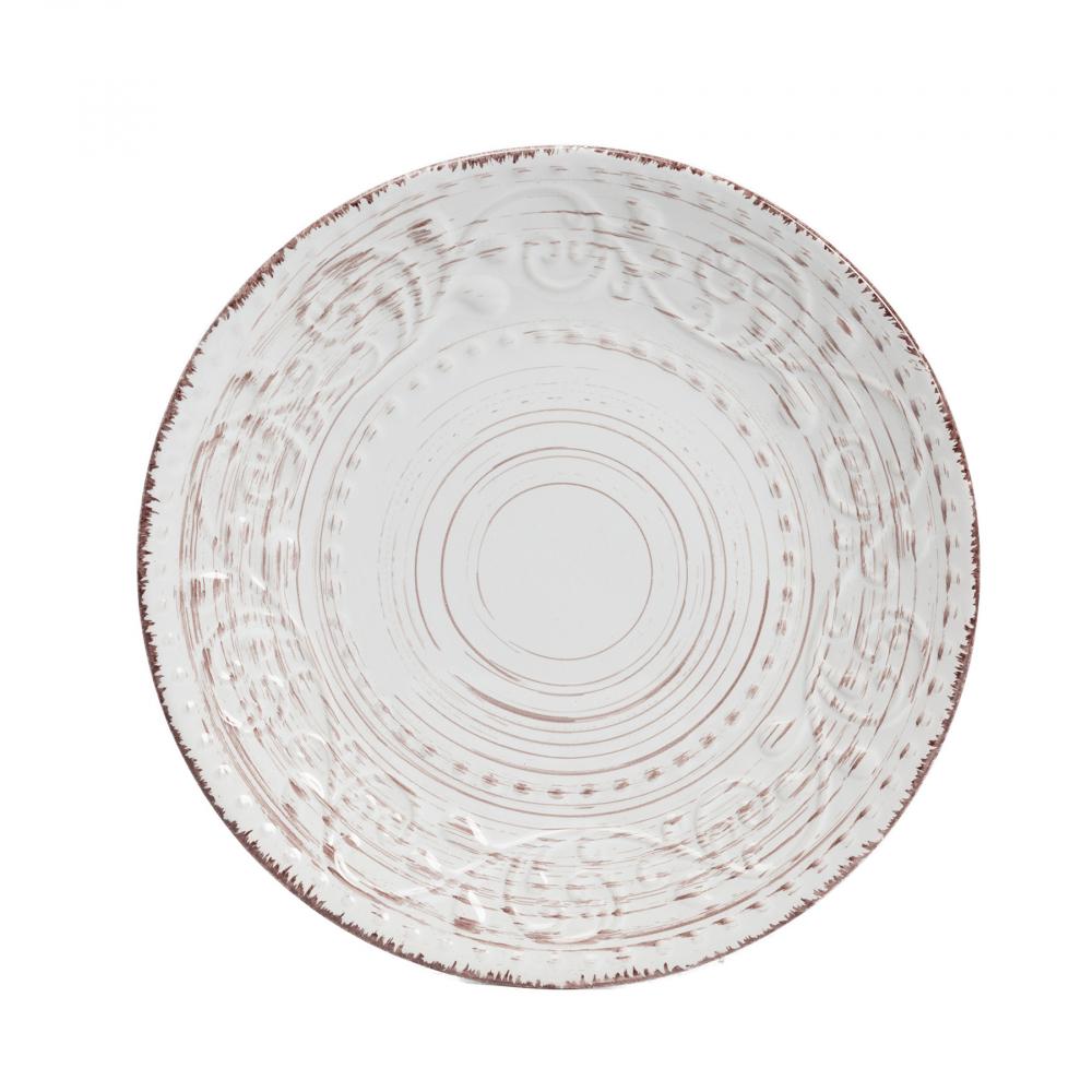 Тарелка La Cebra Маленьая КремоваяТарелки<br><br><br>Цвет: Бежевый<br>Материал: Керамика<br>Вес кг: 0,5<br>Длина см: 21<br>Ширина см: 21<br>Высота см: 2