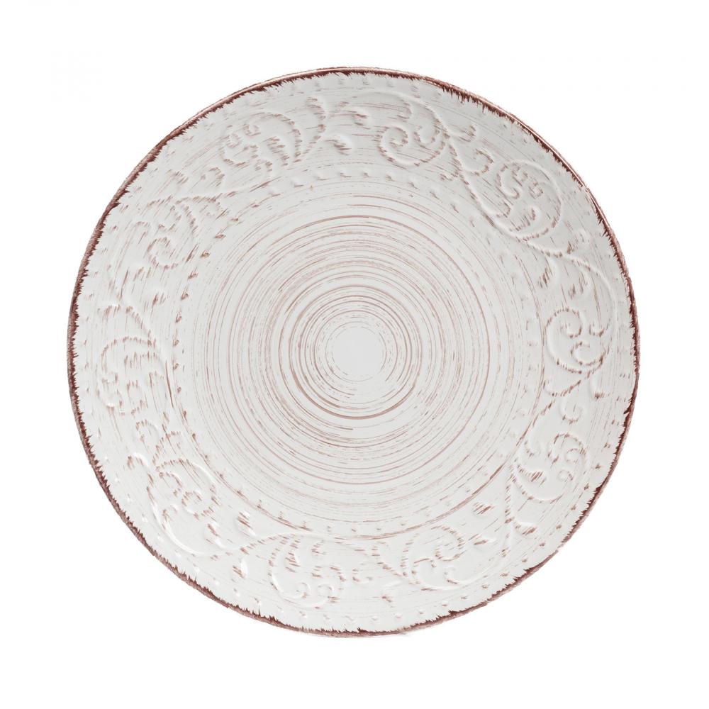 Тарелка La Cebra Большая КремоваяТарелки<br><br><br>Цвет: Кремовый<br>Материал: Керамика<br>Вес кг: 0,95<br>Длина см: 28<br>Ширина см: 28<br>Высота см: 3