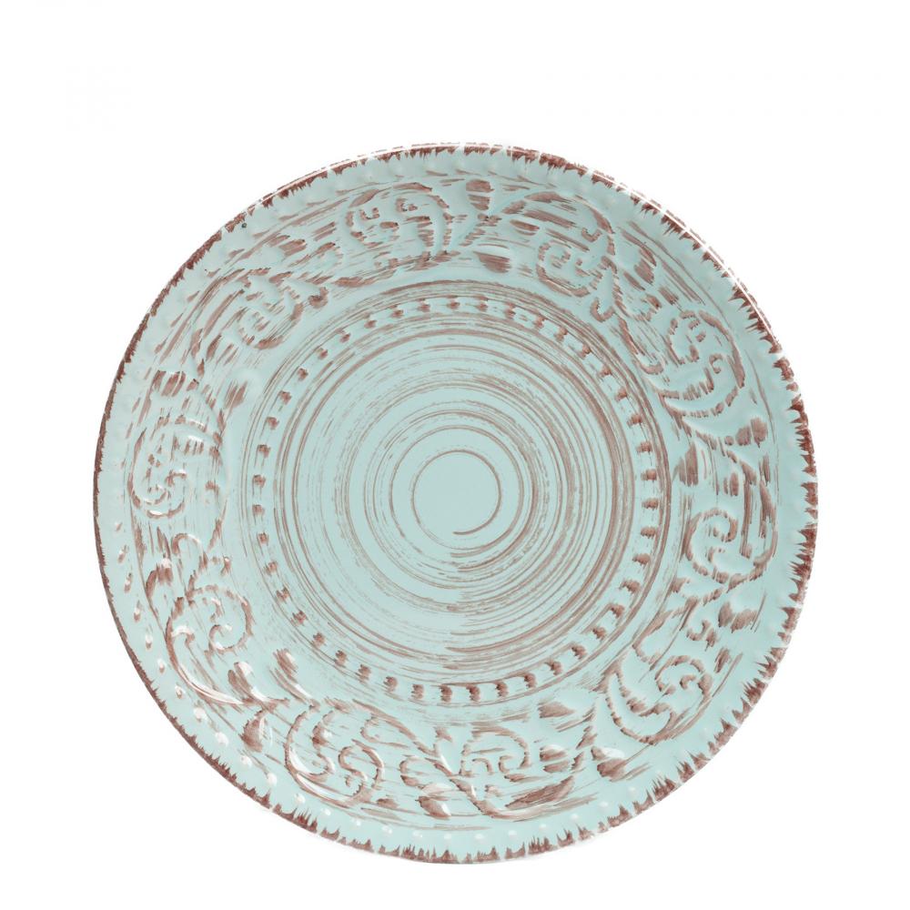 Тарелка La Cebra Маленьая ГолубаяТарелки<br><br><br>Цвет: Бирюзовый<br>Материал: Керамика<br>Вес кг: 0,5<br>Длина см: 21<br>Ширина см: 21<br>Высота см: 2