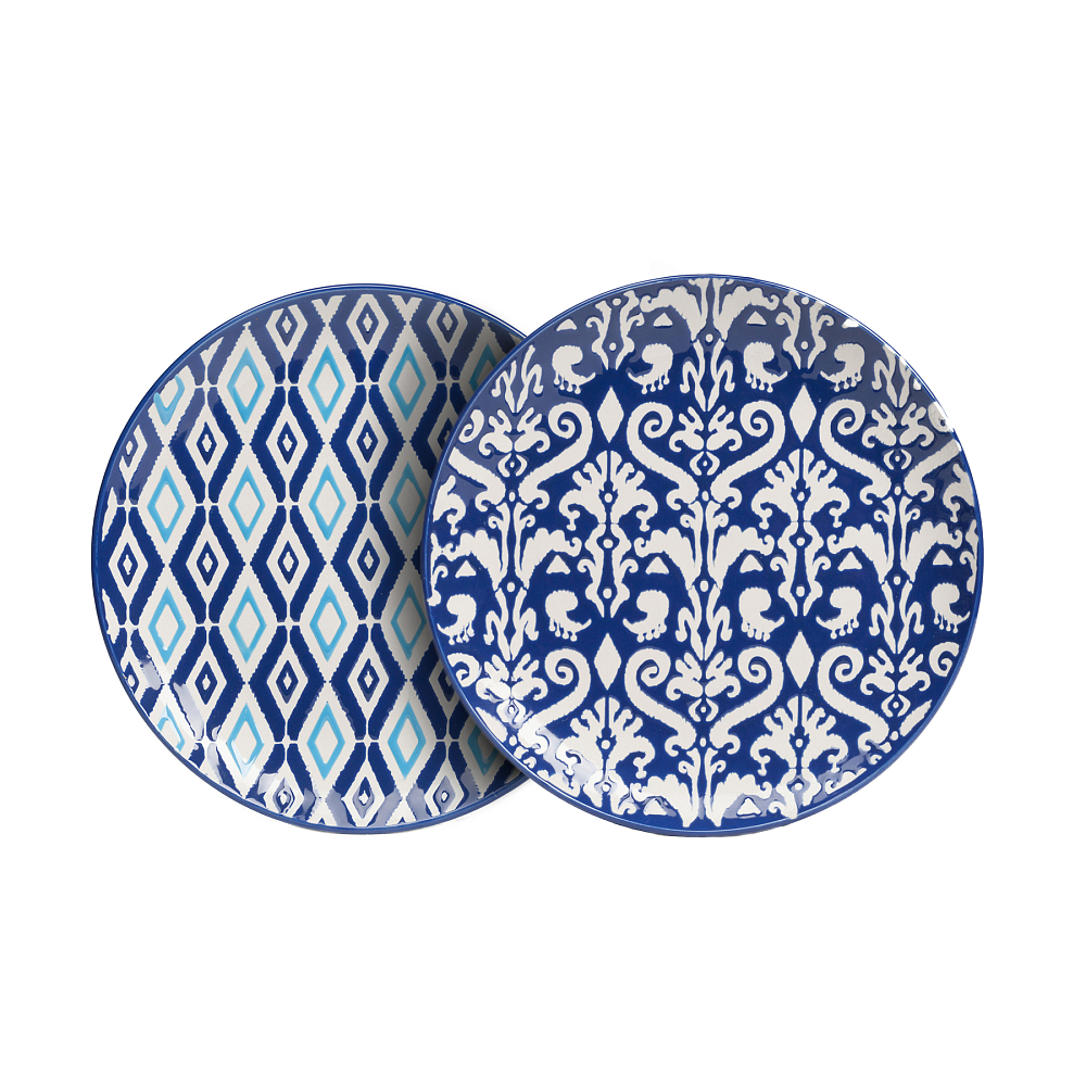 Комплект тарелок CharmerКомплекты тарелок<br><br><br>Цвет: Синий<br>Материал: Керамика<br>Вес кг: 0,7<br>Длина см: 19<br>Ширина см: 19<br>Высота см: 2,5