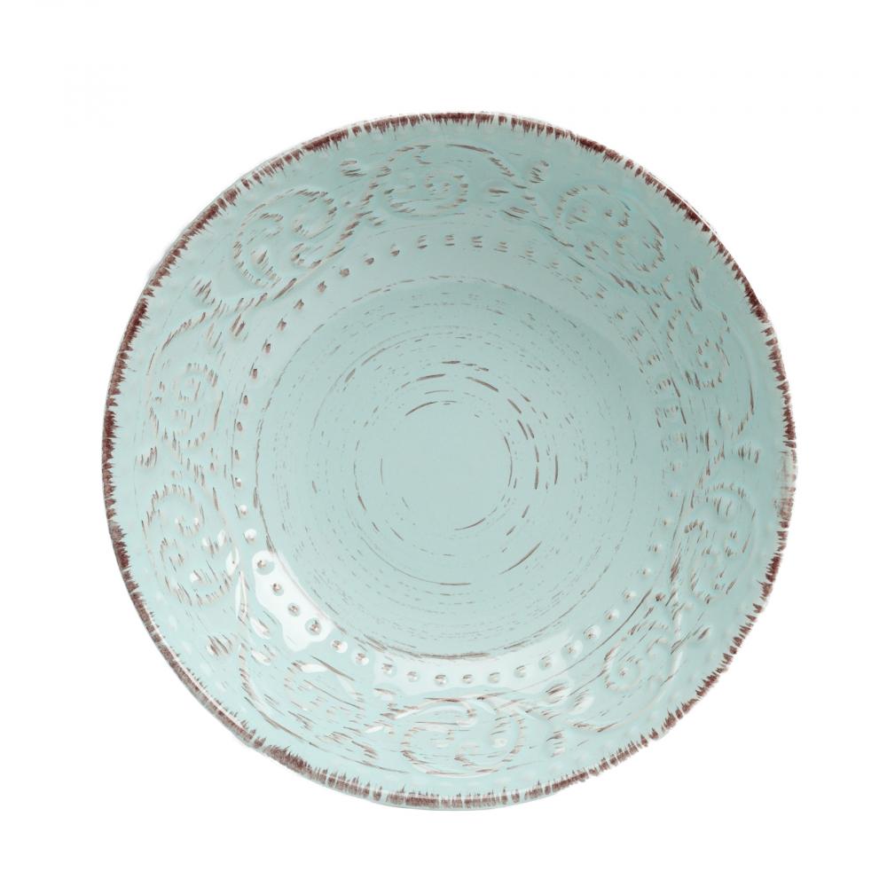 Салатник порционный La Cebra ГолубаяСупницы и салатники<br><br><br>Цвет: Бирюзовый<br>Материал: Керамика<br>Вес кг: 0,6<br>Длина см: 20<br>Ширина см: 20<br>Высота см: 5