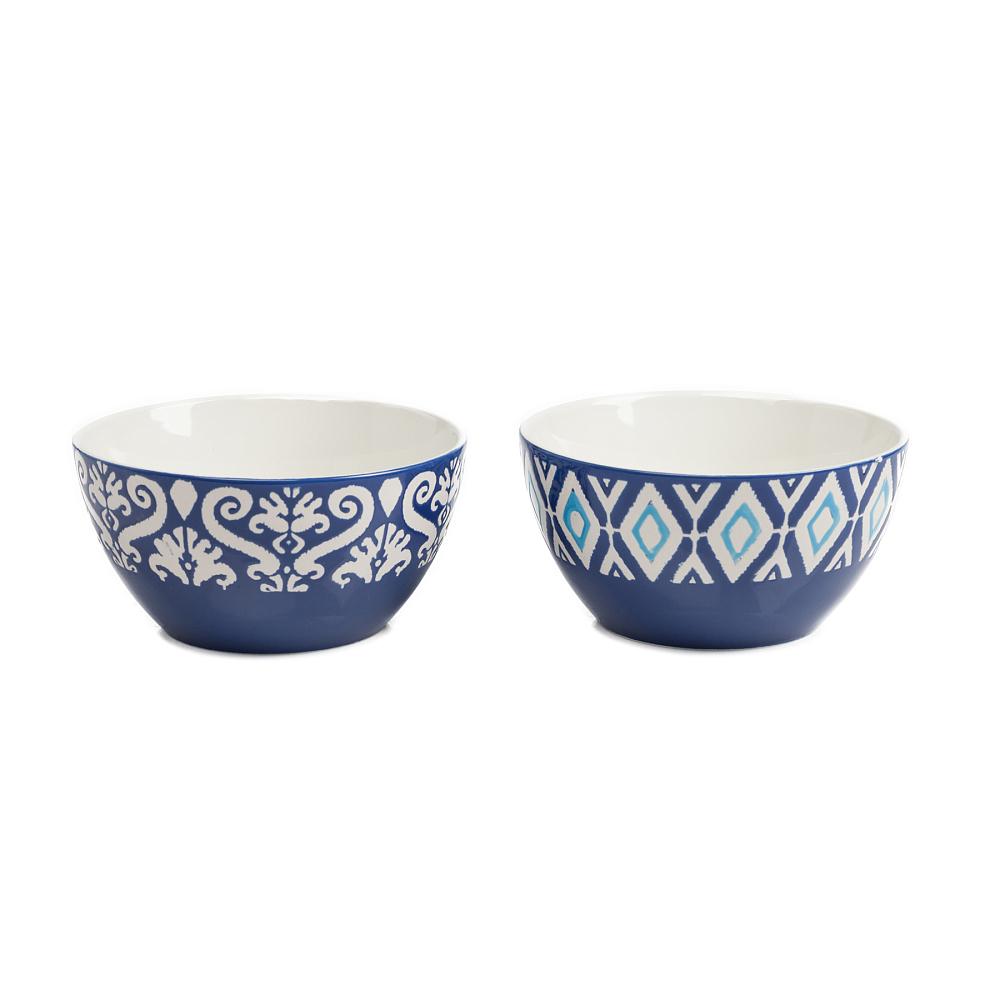 Набор из 2 пиал CharmerПиалы<br><br><br>Цвет: Синий<br>Материал: Керамика<br>Вес кг: 0,8<br>Длина см: 14<br>Ширина см: 14<br>Высота см: 7