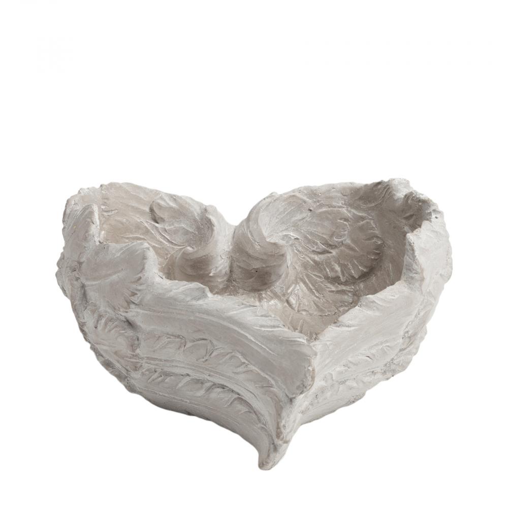 Декоративное блюдо Amur БольшоеБлюда<br><br><br>Цвет: Бежевый<br>Материал: Цемент<br>Вес кг: 1,7<br>Длина см: 23,5<br>Ширина см: 21<br>Высота см: 11,5