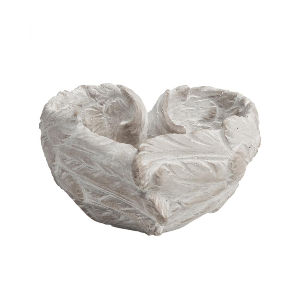Декоративное блюдо Amur МаленькоеБлюда<br><br><br>Цвет: Бежевый<br>Материал: Цемент<br>Вес кг: 0,85<br>Длина см: 15<br>Ширина см: 14<br>Высота см: 8