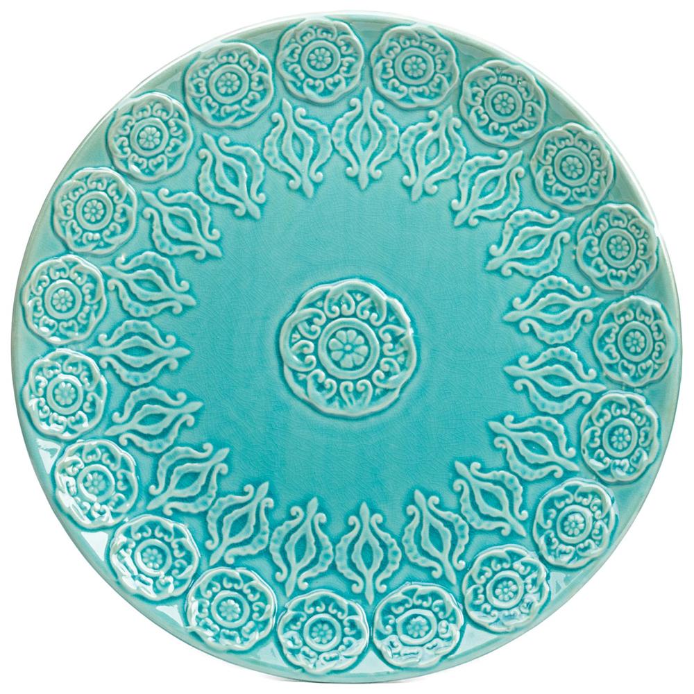 Тарелка NavyТарелки<br><br><br>Цвет: Бирюзовый<br>Материал: Керамика<br>Вес кг: 0,5<br>Длина см: 45<br>Ширина см: 45<br>Высота см: 4,5