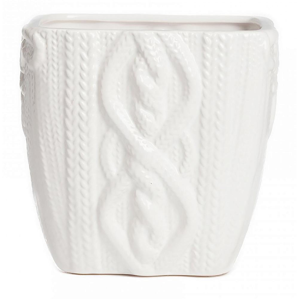 Кашпо Lindley БольшоеДомашний сад<br><br><br>Цвет: Белый<br>Материал: Керамика<br>Вес кг: 0,81<br>Длина см: 16,5<br>Ширина см: 16,5<br>Высота см: 15