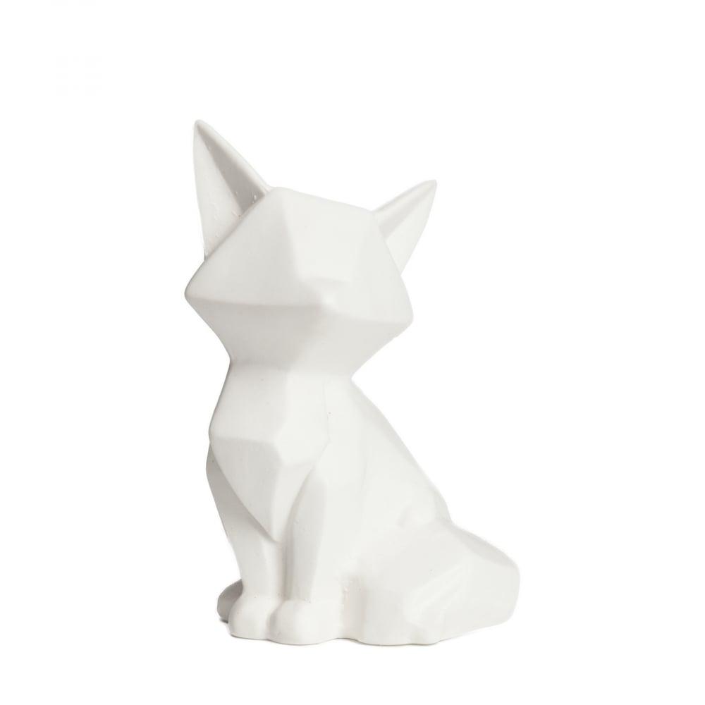 Лиса декоративная FoxyСтатуэтки<br><br><br>Цвет: Белый<br>Материал: Керамика<br>Вес кг: 0,27<br>Длина см: 10<br>Ширина см: 9<br>Высота см: 15,5