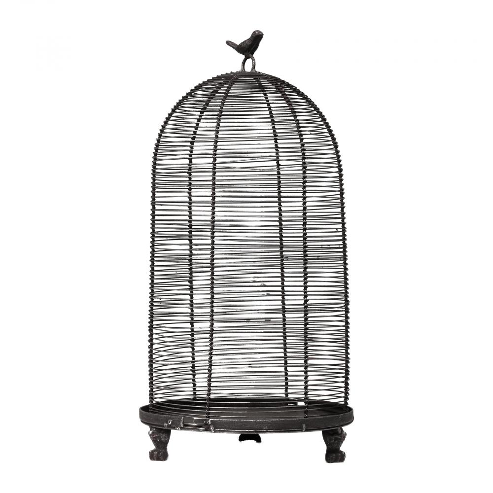 Декоративная клетка Flerentina Большая ЧёрнаяДекор для дома<br><br><br>Цвет: Чёрный<br>Материал: Металл<br>Вес кг: 1,25<br>Длина см: 23<br>Ширина см: 23<br>Высота см: 45,5