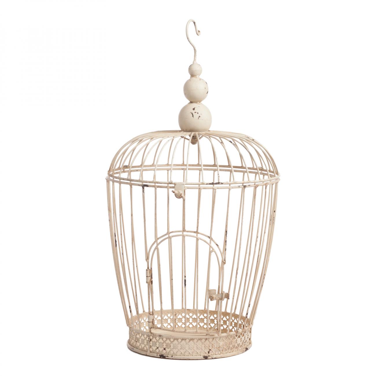 Купить Декоративная клетка Newbury Маленькая Кремовая в интернет магазине дизайнерской мебели и аксессуаров для дома и дачи