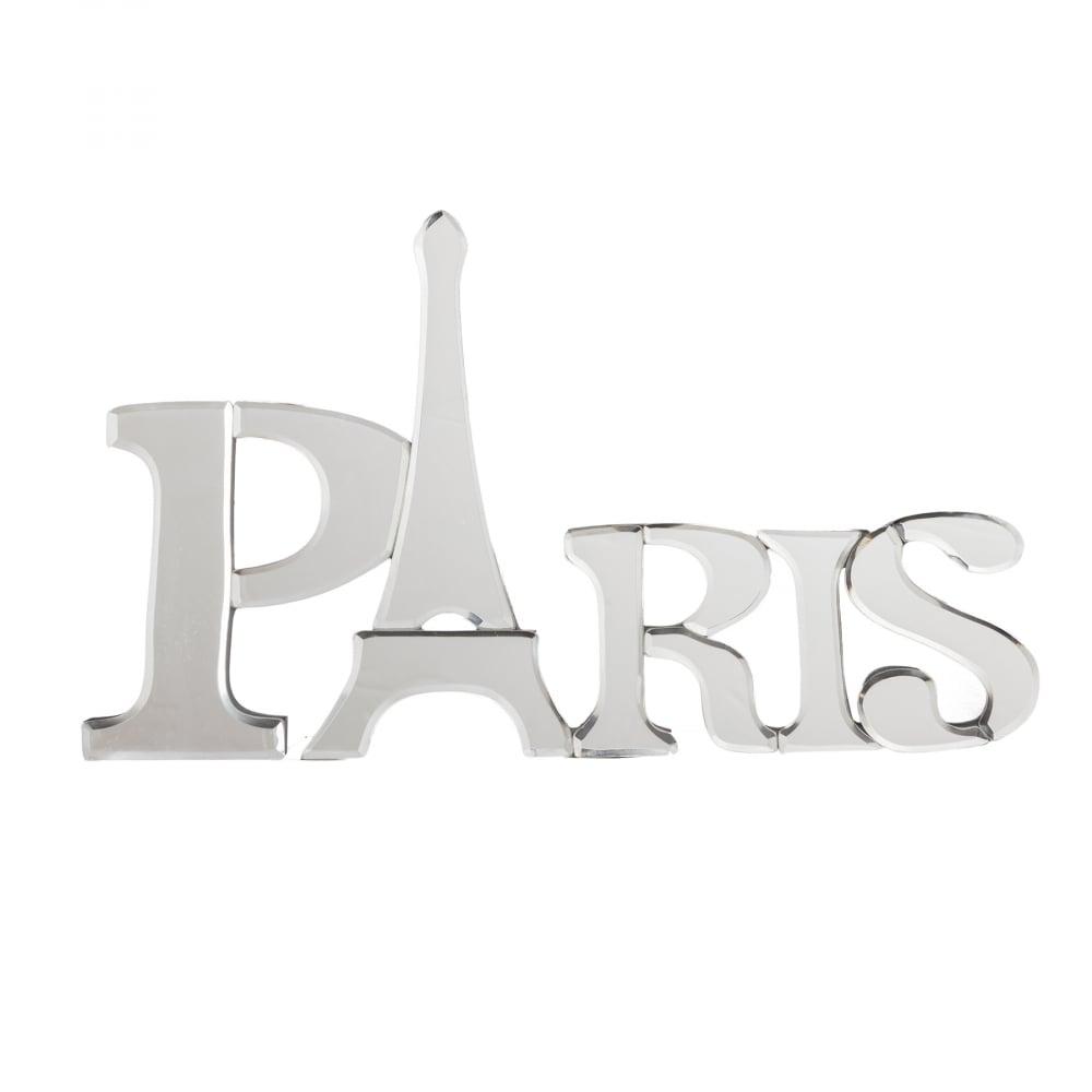 Табличка настенная декоративная ПарижДекор стен<br><br><br>Цвет: Белый<br>Материал: МДФ, Зеркало<br>Вес кг: 0,85<br>Длина см: 43,5<br>Ширина см: 25<br>Высота см: 3