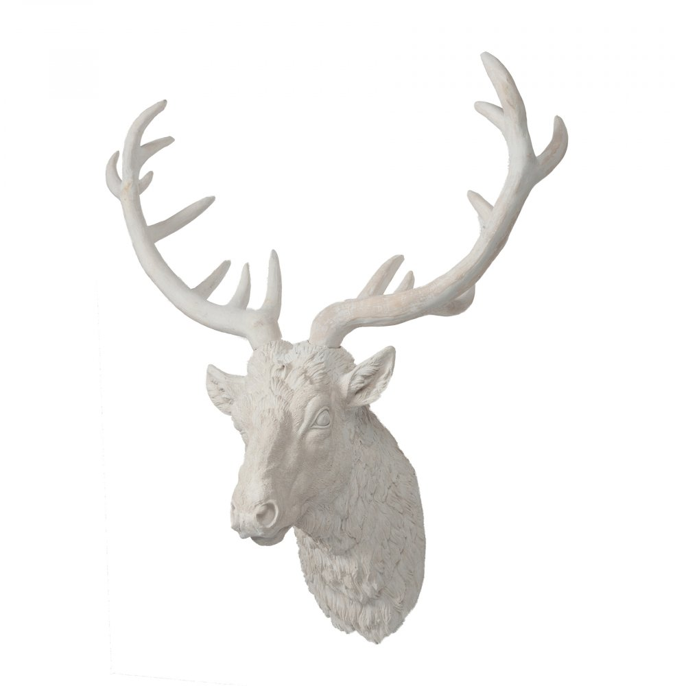 Голова оленя декоративная NovakДекоративные головы<br><br><br>Цвет: Белый<br>Материал: Керамика<br>Вес кг: 6<br>Длина см: 66,04<br>Ширина см: 33,02<br>Высота см: 81,28
