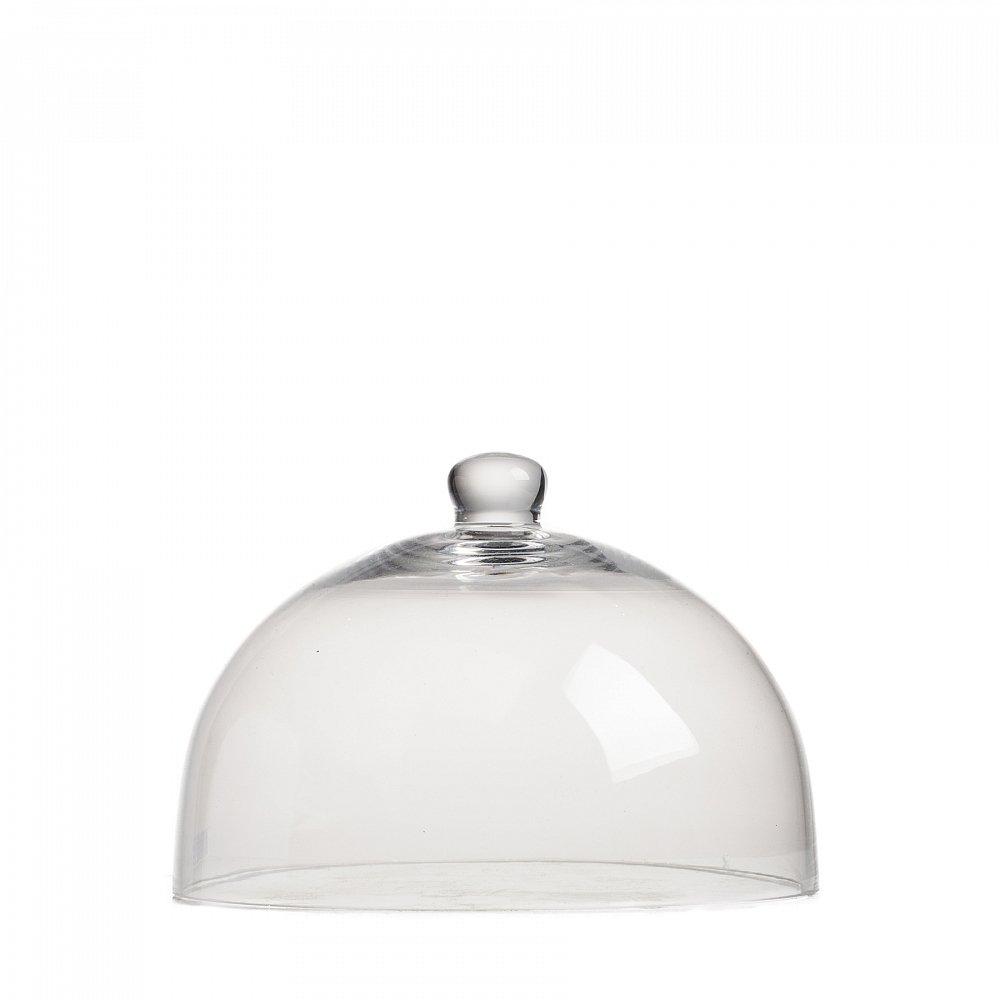 Декоративный купол Oyster НизкийСервировка стола<br><br><br>Цвет: Прозрачный<br>Материал: Стекло<br>Вес кг: 0,3<br>Длина см: 20<br>Ширина см: 20<br>Высота см: 14