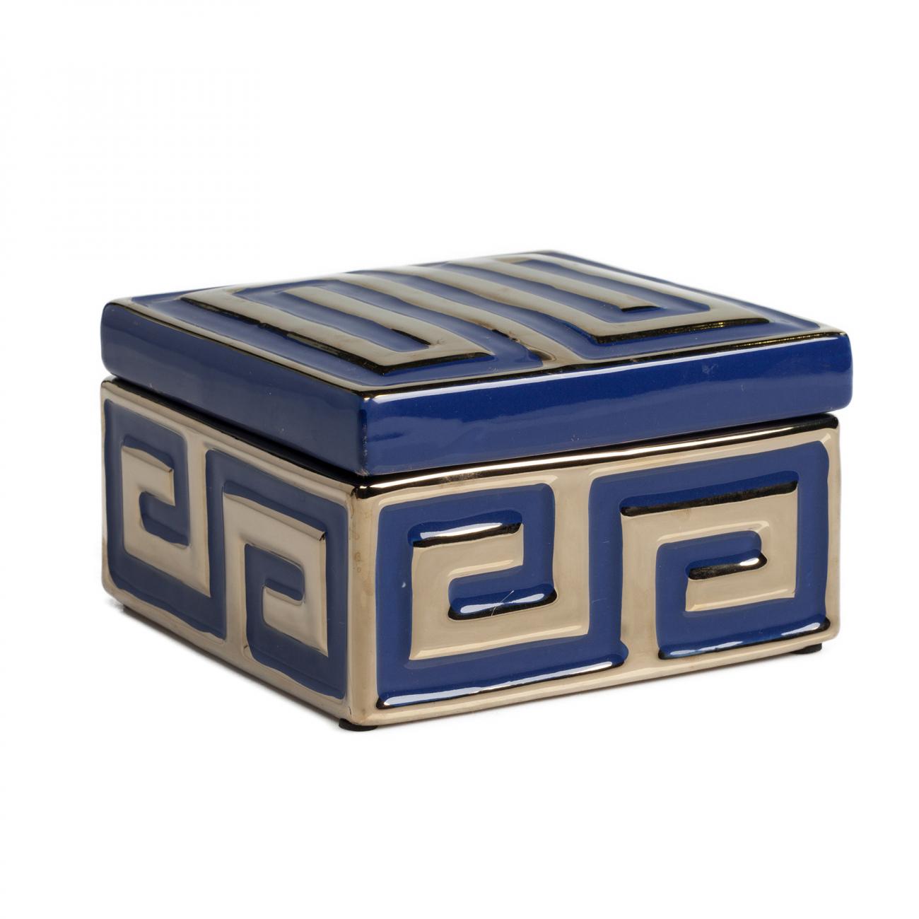 Купить Черная шкатулка (коробка) стеклянная с орнаментом Marque в интернет магазине дизайнерской мебели и аксессуаров для дома и дачи