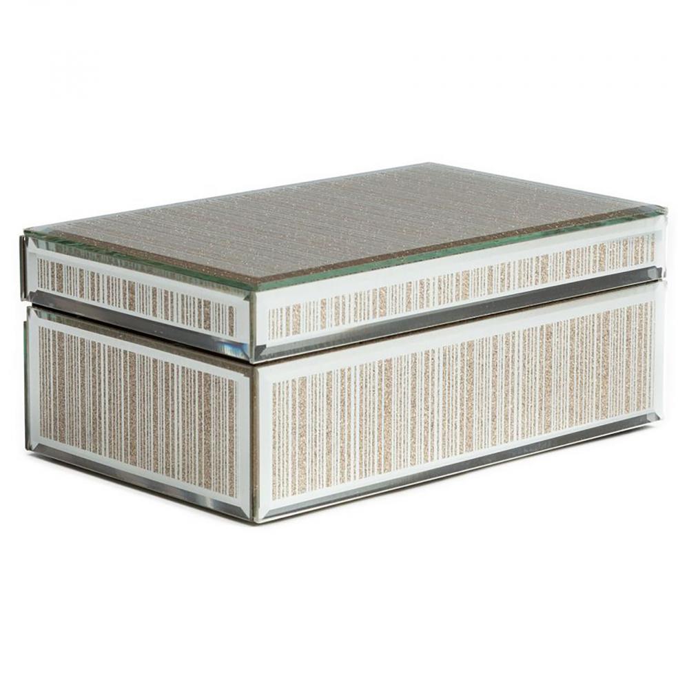 Зеркальная шкатулка (коробка) Antiqued прямоугольная