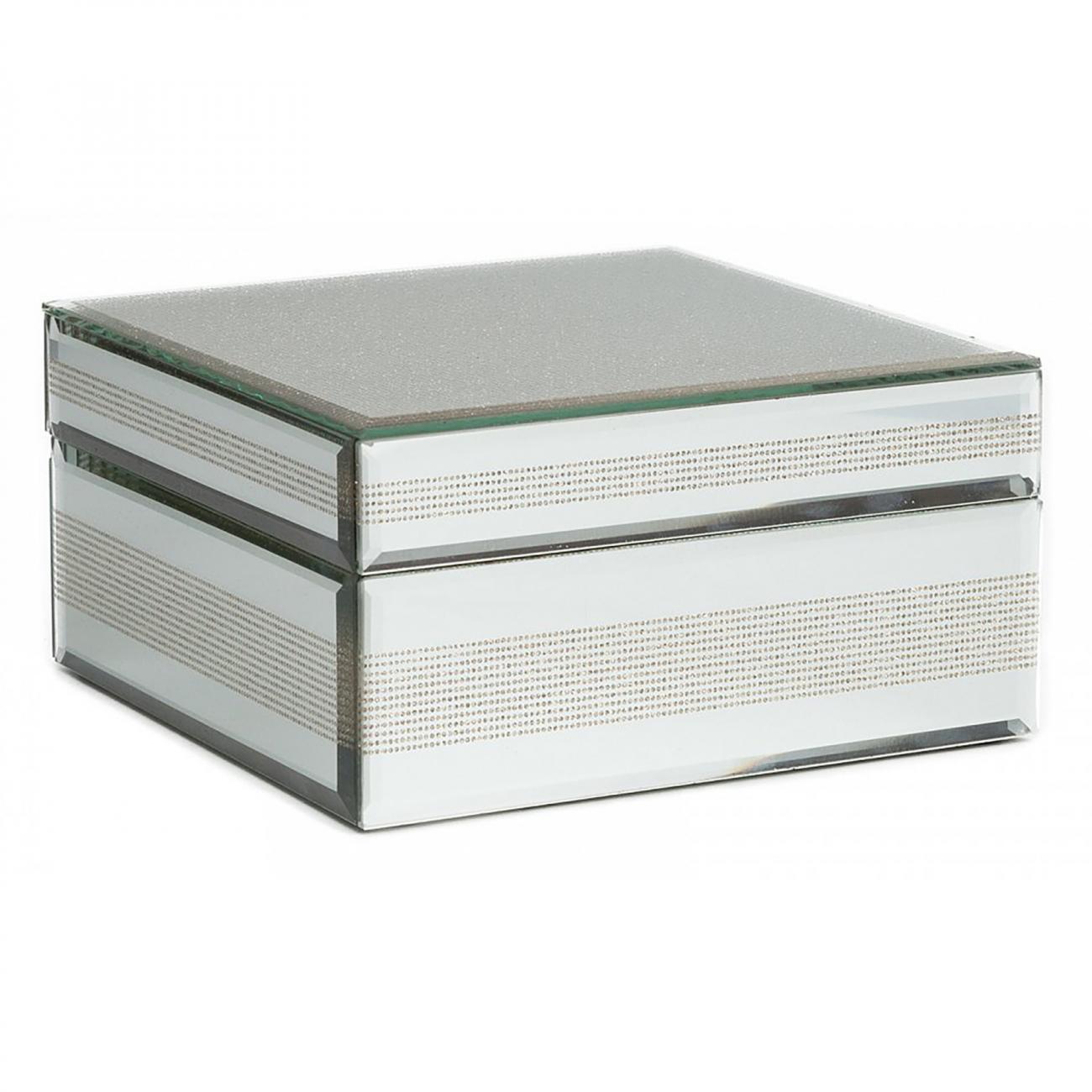 Купить Зеркальная шкатулка (коробка) Antiqued квадратная в интернет магазине дизайнерской мебели и аксессуаров для дома и дачи