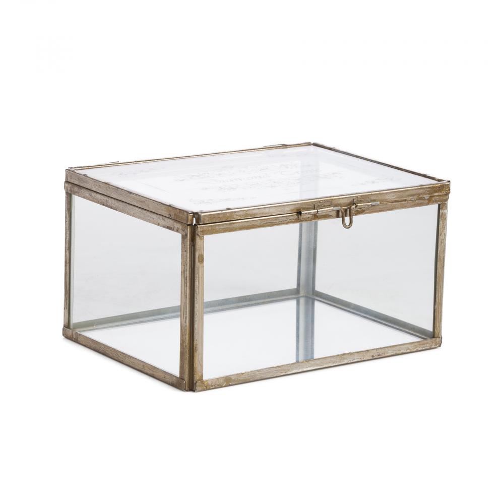 Стеклянная шкатулка (коробка) для ювелирных Шкатулки и подставки для украшений<br><br><br>Цвет: Прозрачный<br>Материал: Стекло, Металл<br>Вес кг: 1,11<br>Длина см: 21,5<br>Ширина см: 16,5<br>Высота см: 11,5