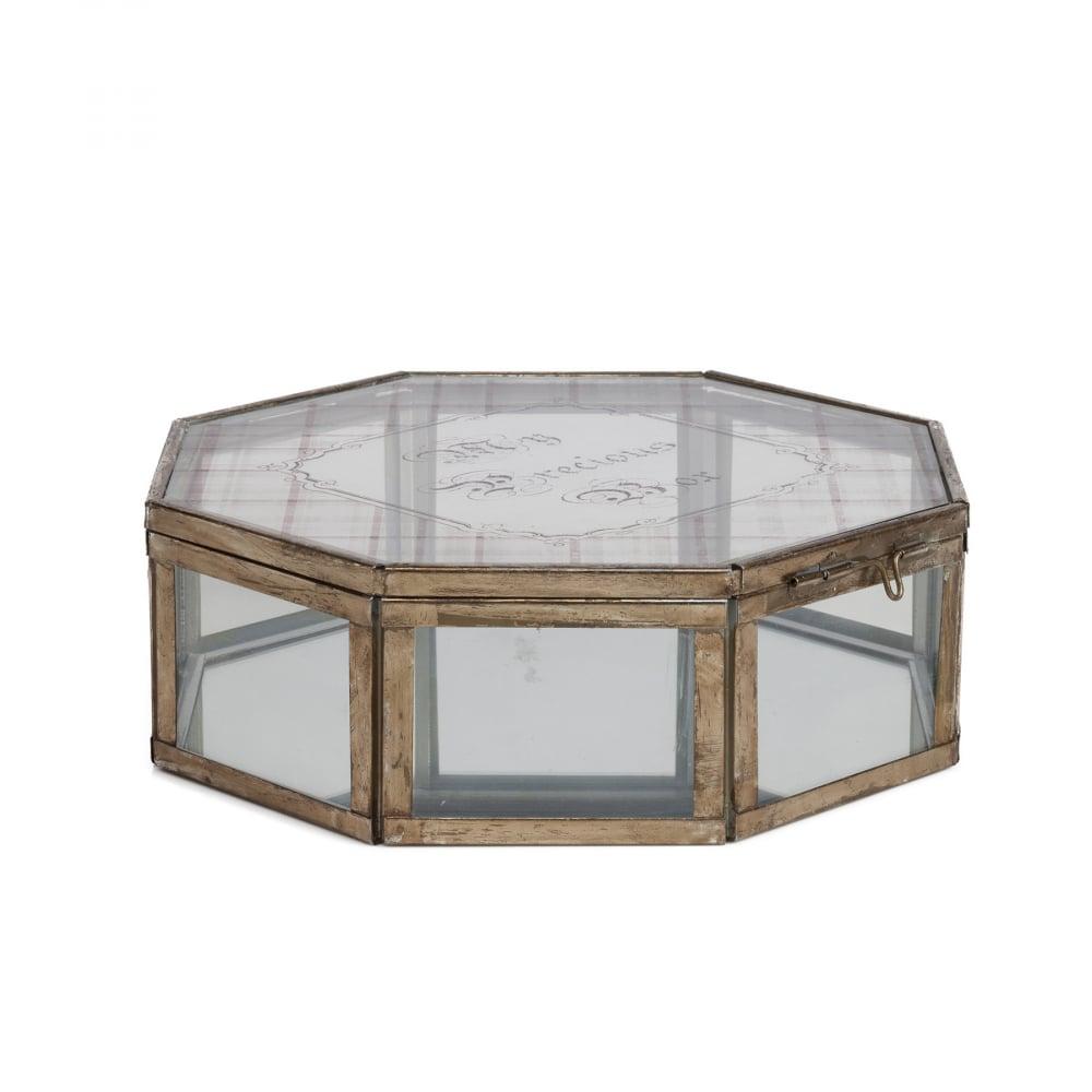 Корбка для ювелирных украшений Ariel БольшаяШкатулки и подставки для украшений<br><br><br>Цвет: Прозрачный<br>Материал: Стекло, Металл<br>Вес кг: 2,28<br>Длина см: 33<br>Ширина см: 33<br>Высота см: 11,5