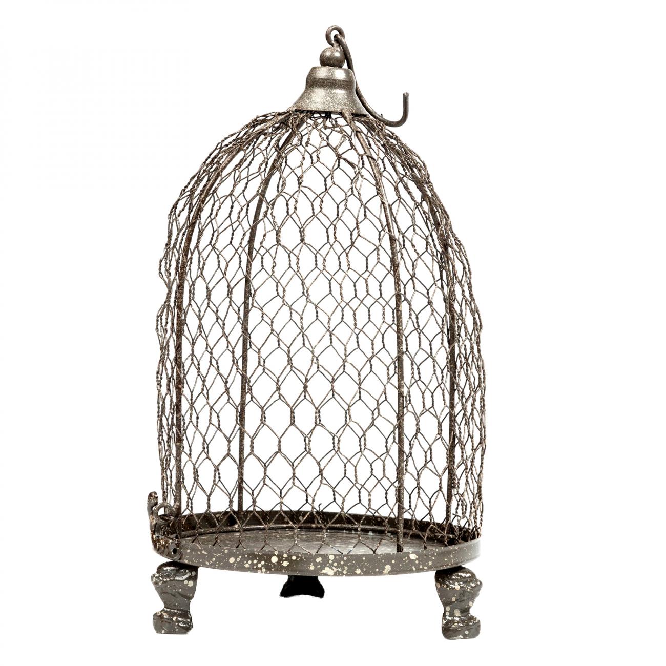 Купить Декоративная клетка-подсвечник Bonadi Большая в интернет магазине дизайнерской мебели и аксессуаров для дома и дачи