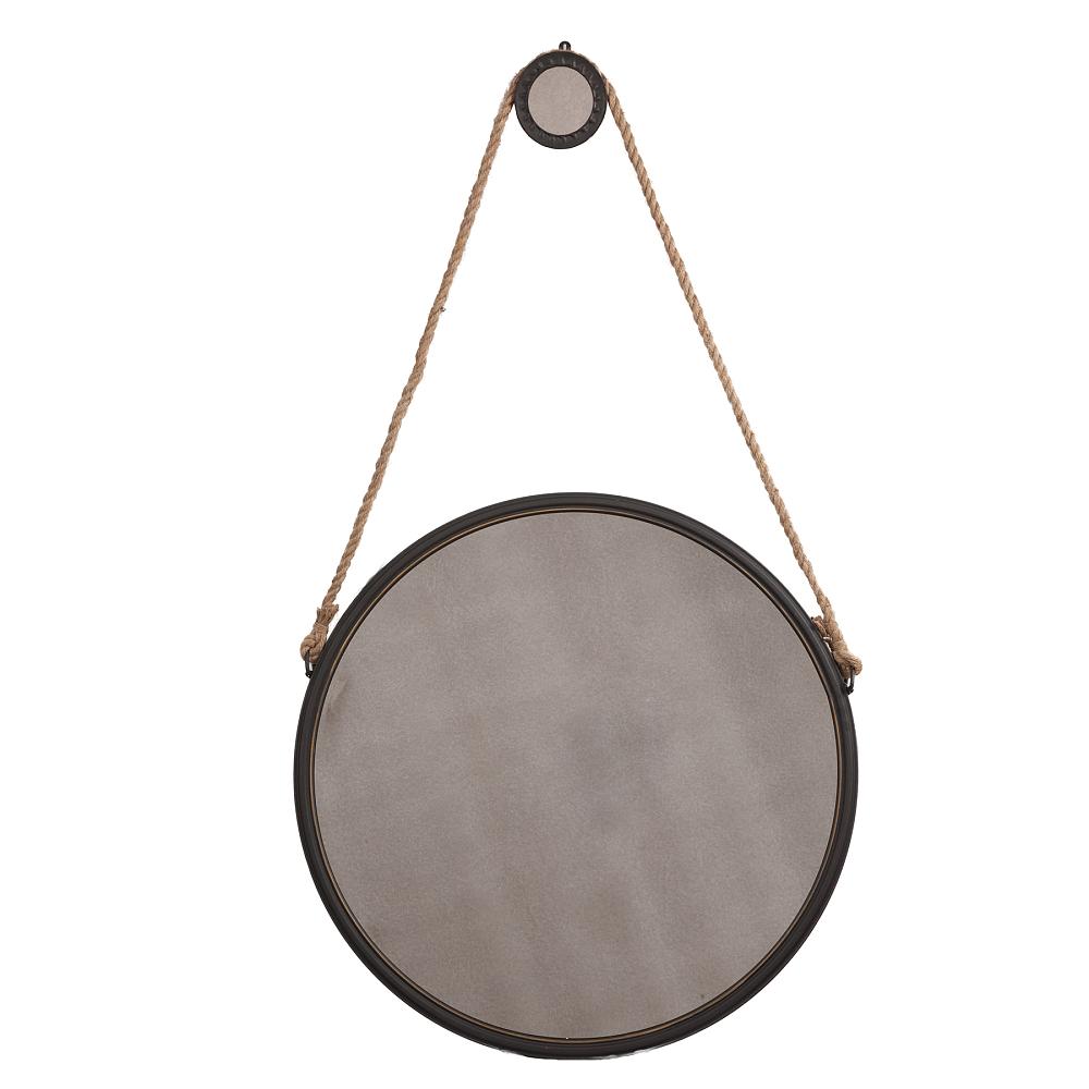 Зеркало Iron and Rope Round БольшоеЗеркала<br><br><br>Цвет: Коричневый<br>Материал: Зеркало, Металл, Экокожа<br>Вес кг: 4<br>Длина см: 75<br>Ширина см: 4,5<br>Высота см: 75