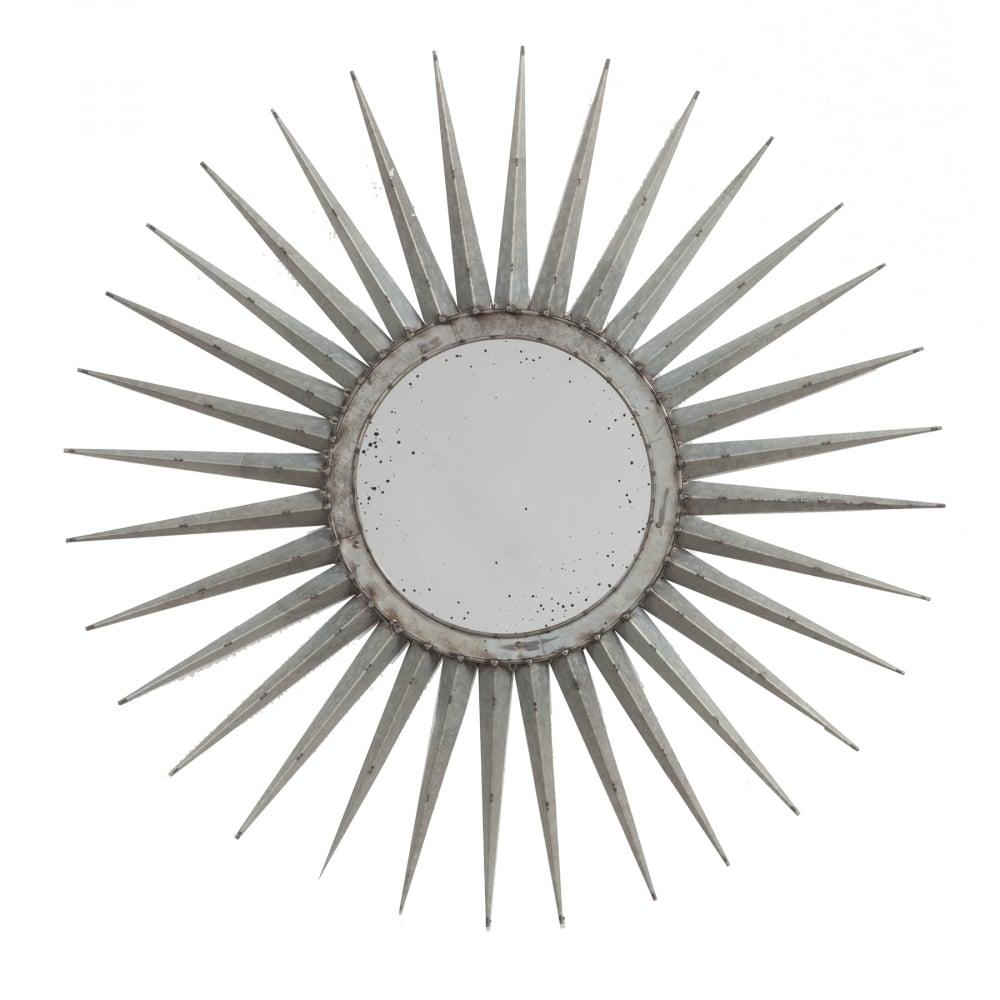 Фото Зеркало-солнце Starburst Маленькое Серебро. Купить с доставкой
