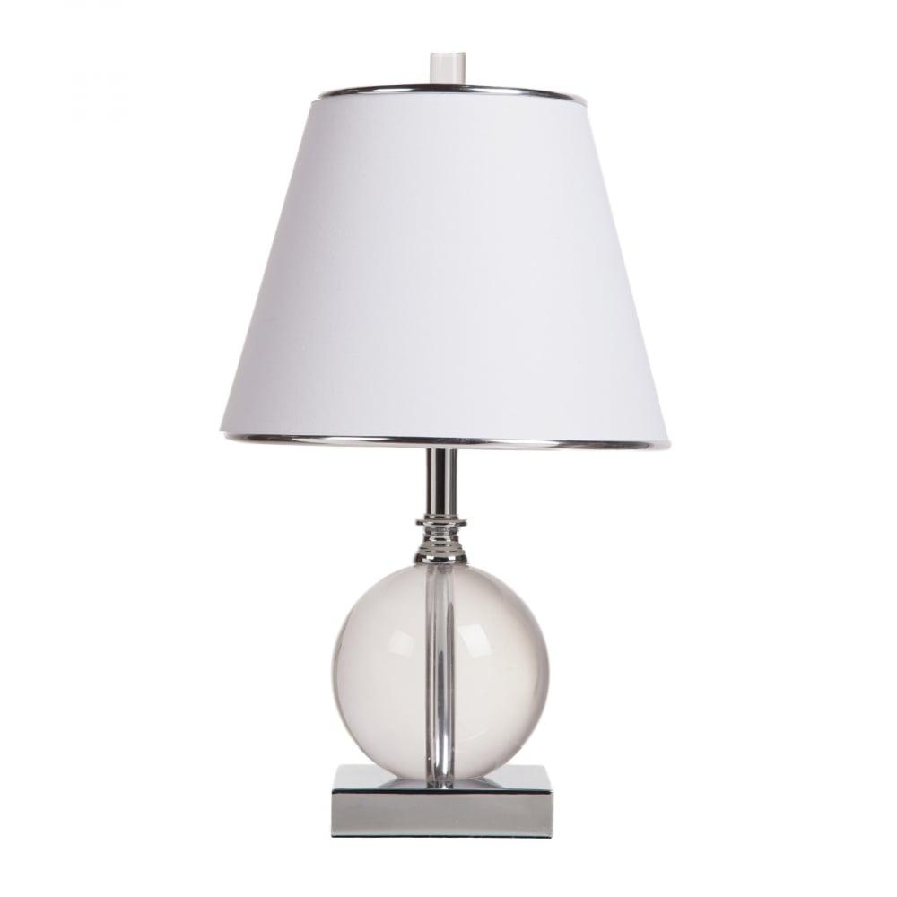 Настольная лампа FletcherНастольные лампы<br>Основание железо, стекло, ПВХ абажур; предназначена <br>для использования со светодиодными лампами, <br>лампы не включены в комплект<br><br>Цвет: Белый<br>Материал: Металл, Стекло, ПВХ<br>Вес кг: 3,25<br>Длина см: 25,5<br>Ширина см: 25,5<br>Высота см: 44,5