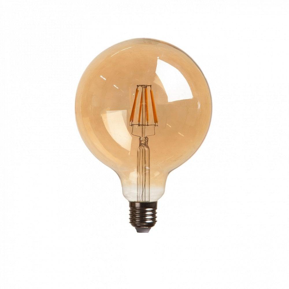 Светодиодная лампочка G125 FilamentПодвесные светильники<br><br><br>Цвет: Прозрачный<br>Материал: Стекло<br>Вес кг: 0,3<br>Длина см: 12,5<br>Ширина см: 12,5<br>Высота см: 17,6