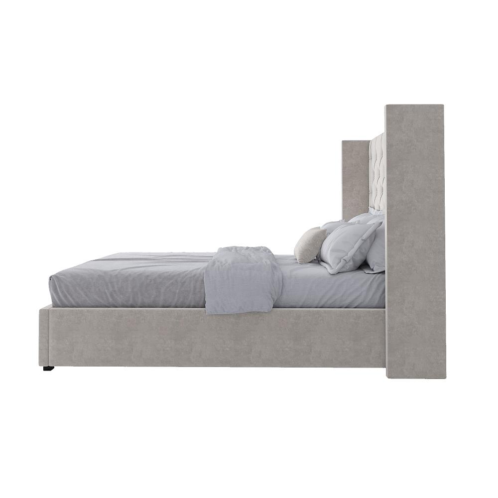 Кровать Wing-2 140х200 Велюр Молочный Р