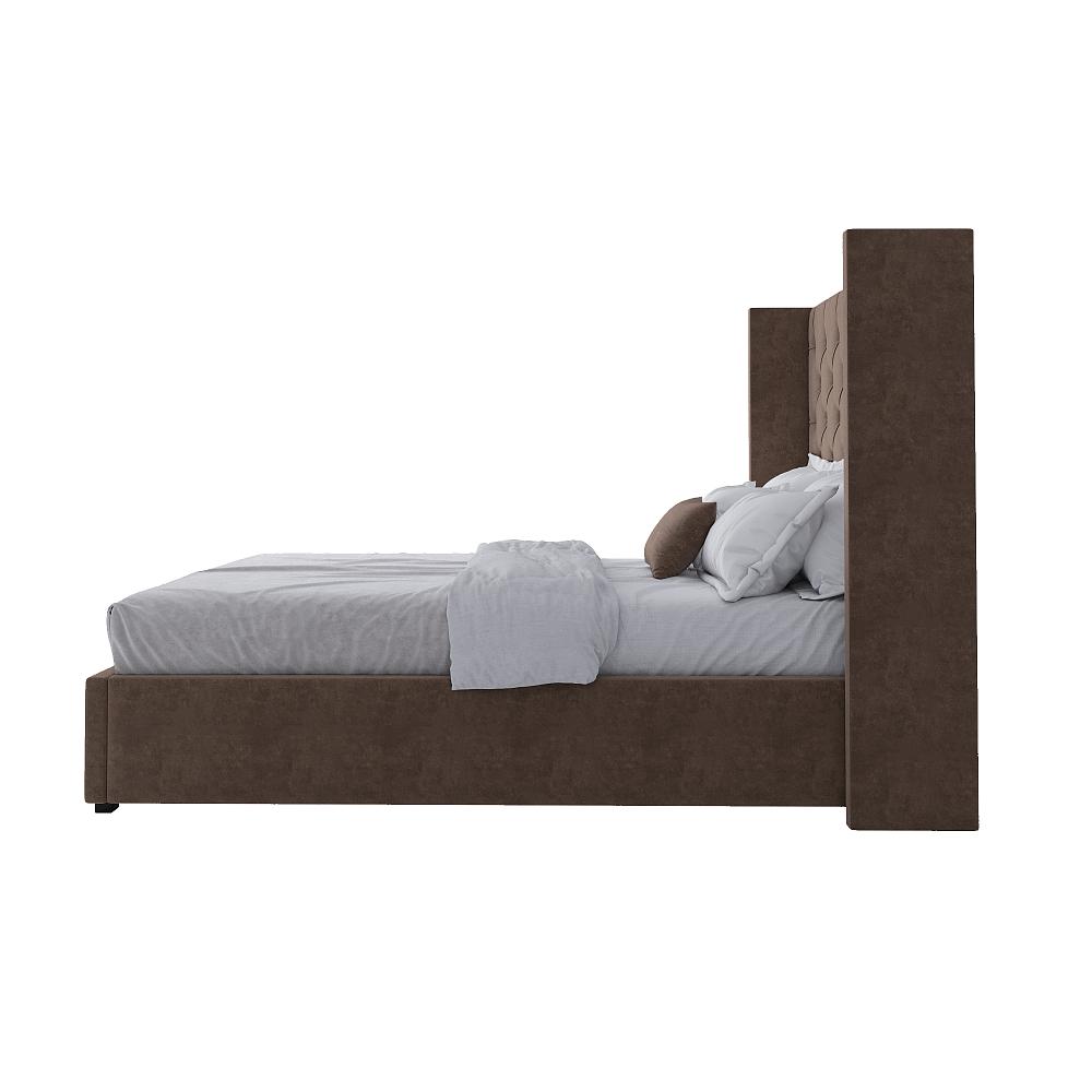 Кровать Wing-2 140х200 Велюр Коричневый Р