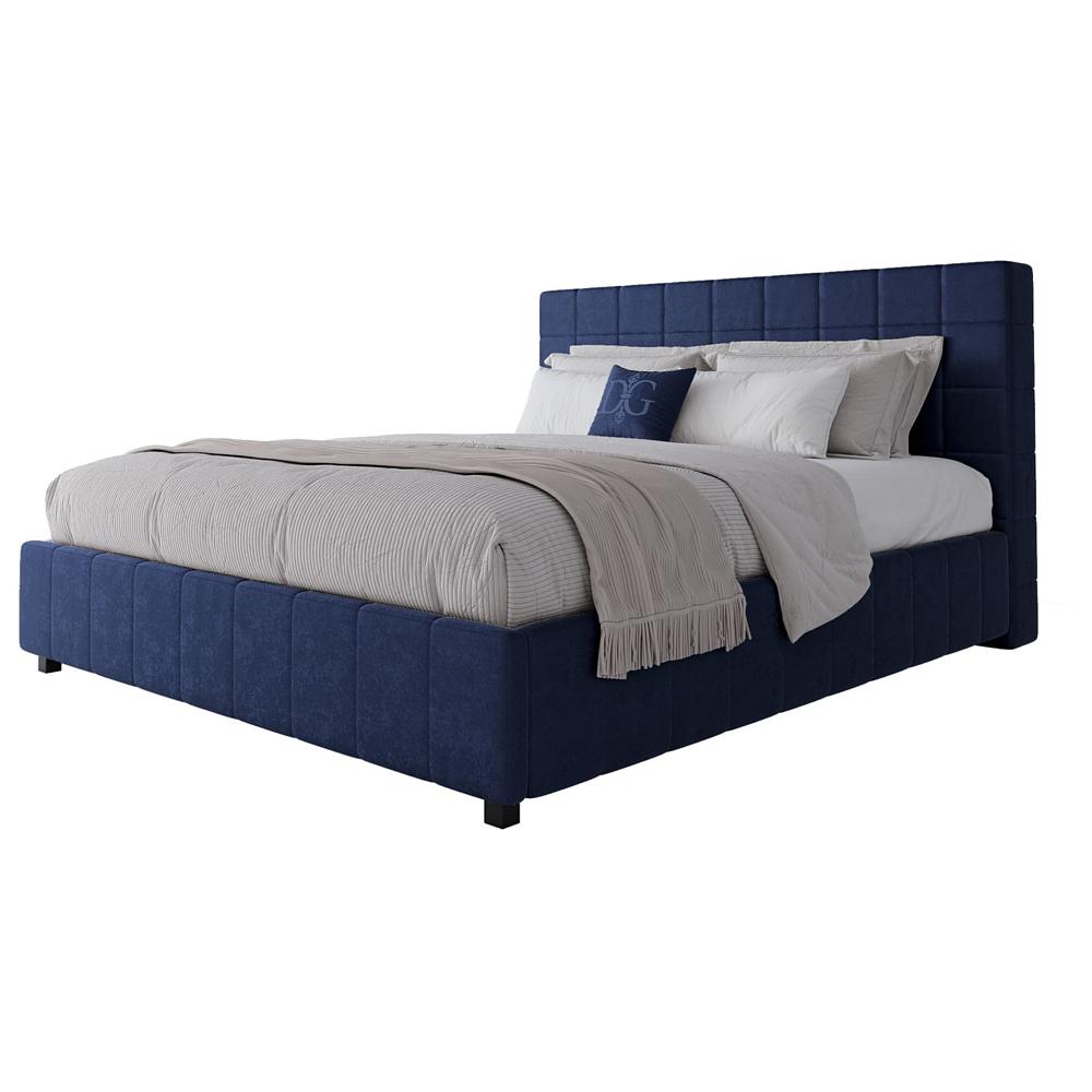 Кровать Shining Modern 180х200 Велюр СинийКровати<br>Удобная и практичная кровать с мягким изголовьем <br>и прочным деревянным каркасом на устойчивых <br>ножках. Поклонники стиля «лофт», несомненно, <br>оценят кровать Shining Modern, в дизайне которой <br>главное — элегантная простота, заключающая <br>в себе очарование и практичность. Строгие <br>формы, отделка мягкого изголовья, основанная <br>на правильной геометрии куба, а также качественный <br>текстиль ? вот что делает облик этого предмета <br>мебели прекрасным в своей сдержанности. <br>Выполненная в строгом промышленном стиле, <br>она покоряет не только оригинальным оформлением, <br>но и удобством. Кровать Shining Modern станет отличным <br>элементом оформления спальни. Размер спального <br>места: 180*200 см. Ортопедическое основание <br>и матрас в комплект не входят, их необходимо <br>приобрести отдельно. На заказ изготовим <br>любой цвет из представленных на нашем сайте, <br>а также любой размер. Срок изготовления <br>заказной позиции — 30 дней. Для заказа просто <br>добавьте кровать в корзину — наш менеджер <br>свяжется с вами и расскажет все подробности.<br><br>Цвет: Синий<br>Материал: МДФ, Ткань<br>Вес кг: 68<br>Длина см: 200<br>Ширина см: 220