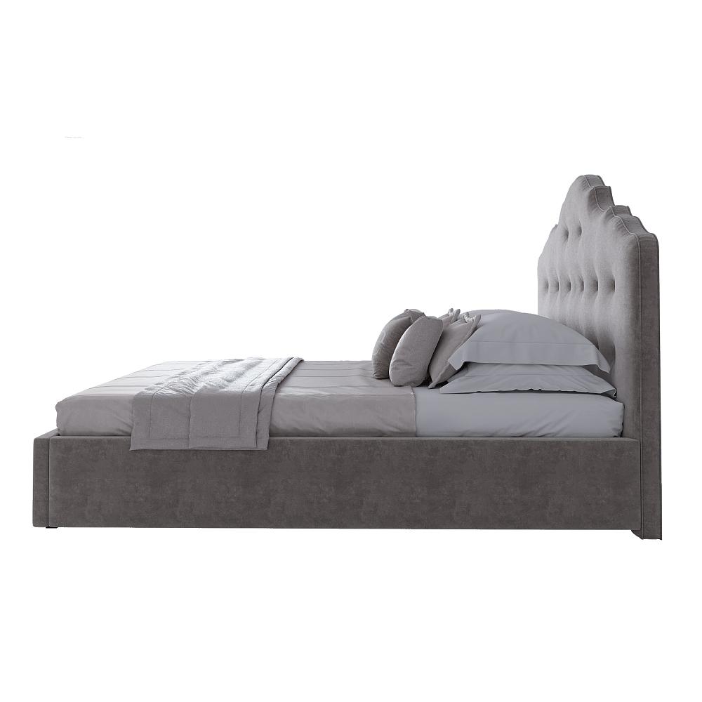 Кровать Palace 140х200 Велюр Серый Р