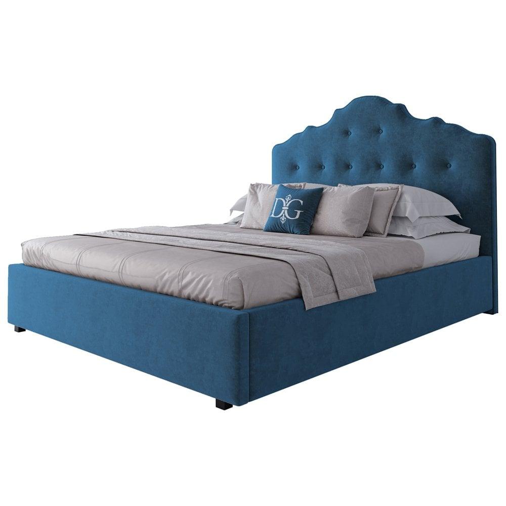 Кровать Palace 160х200 Велюр Морская волна