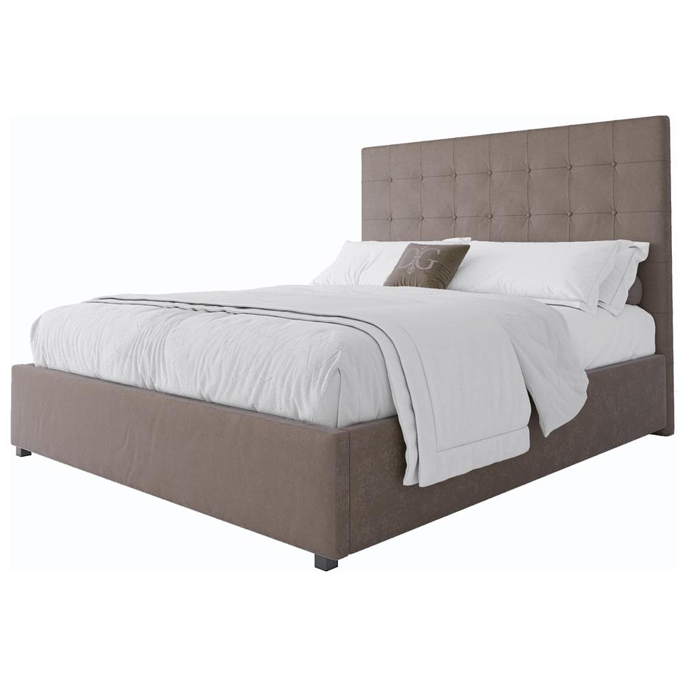 Кровать Royal Black 160х200 Велюр Бежевый
