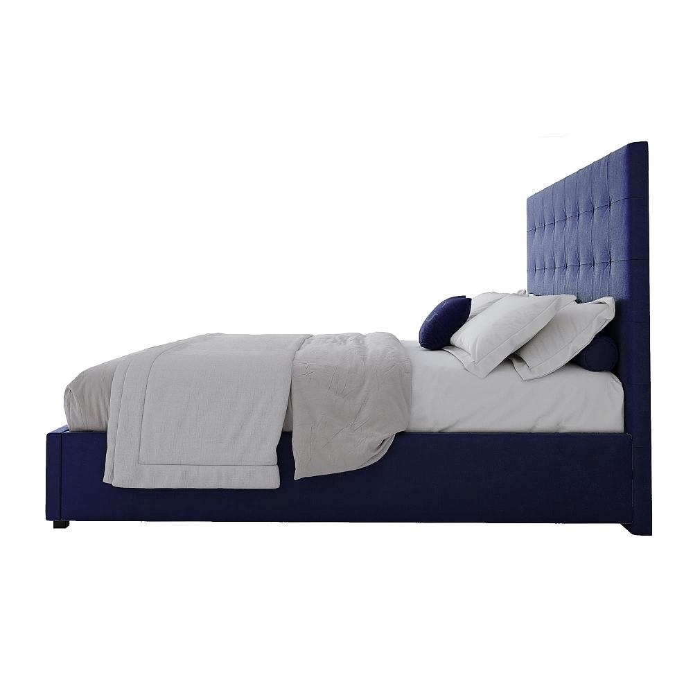 Кровать Royal Black 160х200 Велюр Синий
