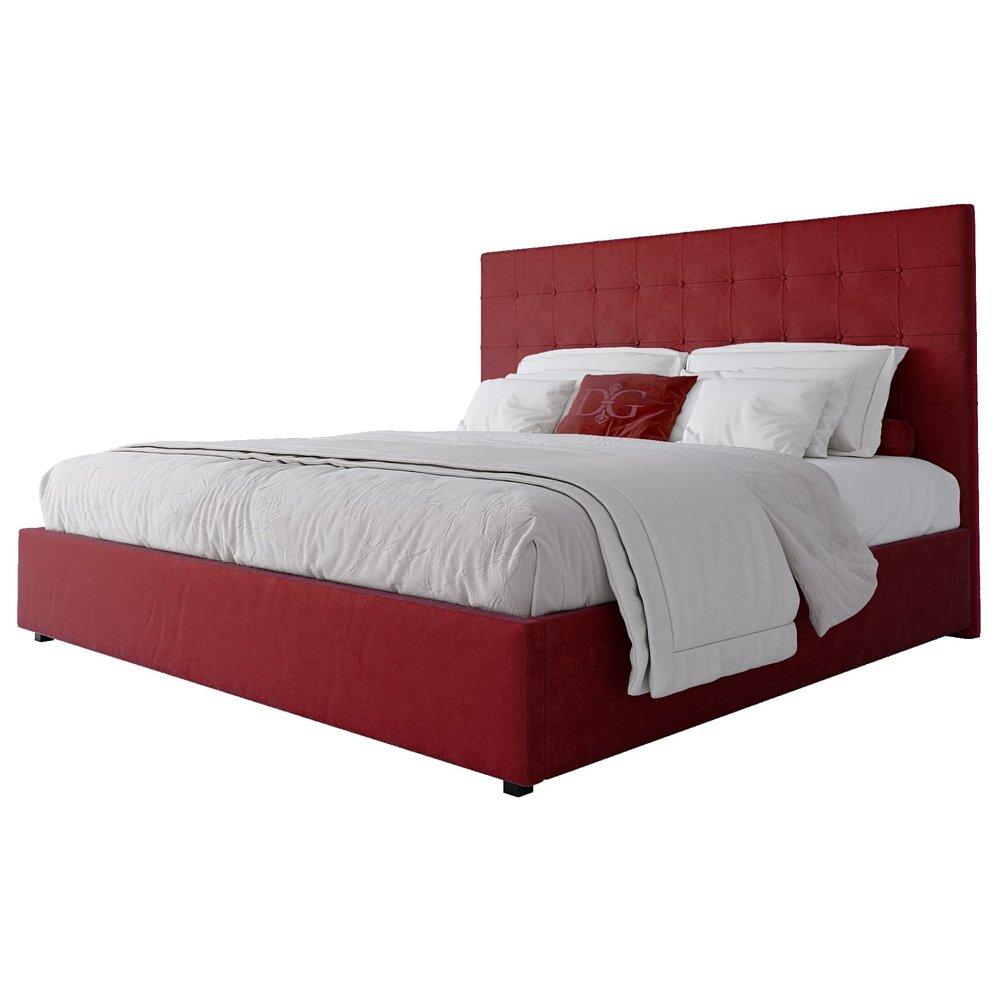 Кровать Royal Black 180х200 Велюр Красный