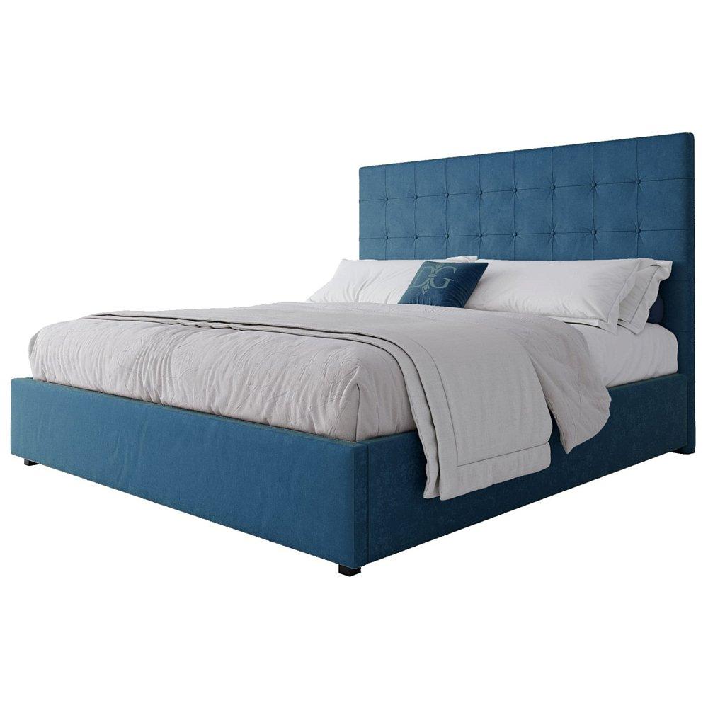 Кровать Royal Black 180х200 Велюр Морская волна
