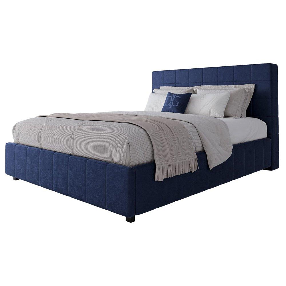 Кровать Shining Modern 160х200 Велюр СинийКровати<br>Удобная и практичная кровать с мягким изголовьем <br>и прочным деревянным каркасом на устойчивых <br>ножках. Поклонники стиля «лофт», несомненно, <br>оценят кровать Shining Modern, в дизайне которой <br>главное — элегантная простота, заключающая <br>в себе очарование и практичность. Строгие <br>формы, отделка мягкого изголовья, основанная <br>на правильной геометрии куба, а также качественный <br>текстиль - вот что делает облик этого предмета <br>мебели прекрасным в своей сдержанности. <br>Выполненная в строгом промышленном стиле, <br>она покоряет не только оригинальным оформлением, <br>но и удобством. Кровать Shining Modern станет отличным <br>элементом оформления спальни. Размер спального <br>места: 160*200 см. Ортопедическое основание <br>и матрас в комплект не входят, их необходимо <br>приобрести отдельно. На заказ изготовим <br>любой цвет из представленных на нашем сайте, <br>а также любой размер. Срок изготовления <br>заказной позиции — 30 дней. Для заказа просто <br>добавьте кровать в корзину — наш менеджер <br>свяжется с вами и расскажет все подробности.<br><br>Цвет: Синий<br>Материал: МДФ, Ткань<br>Вес кг: 78<br>Длина см: 200<br>Ширина см: 220<br>Высота см: 37