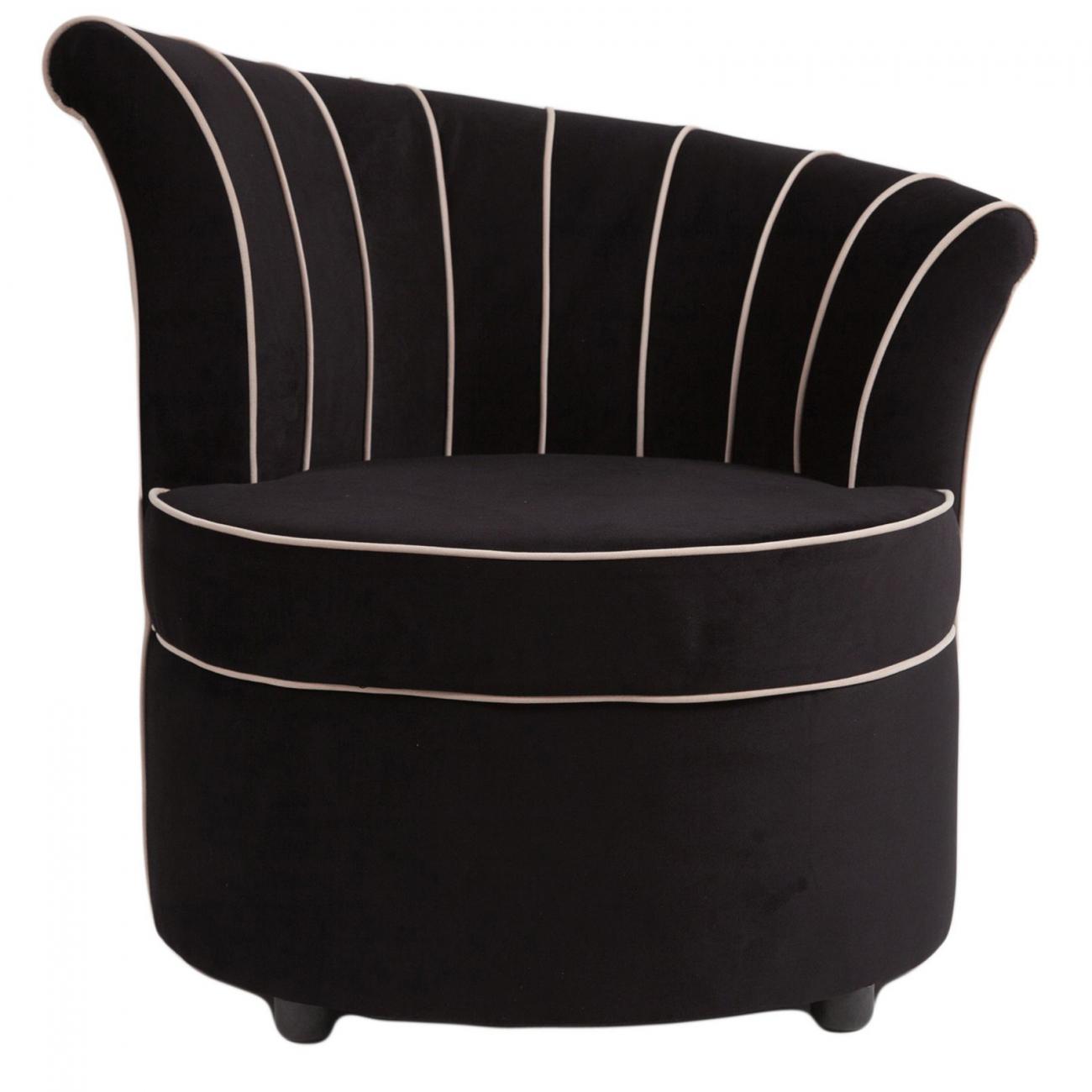Купить Кресло Shell Чёрный Велюр в интернет магазине дизайнерской мебели и аксессуаров для дома и дачи