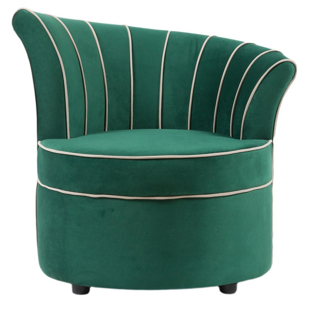 Кресло Shell Зелёное ВелюрКресла<br><br><br>Цвет: Зелёный<br>Материал: Велюр, Дерево<br>Вес кг: None<br>Длина см: 55<br>Ширина см: 55<br>Высота см: 80